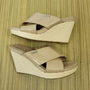 Calvin Klein | Jacolyn Double Strap Wedge Sandals